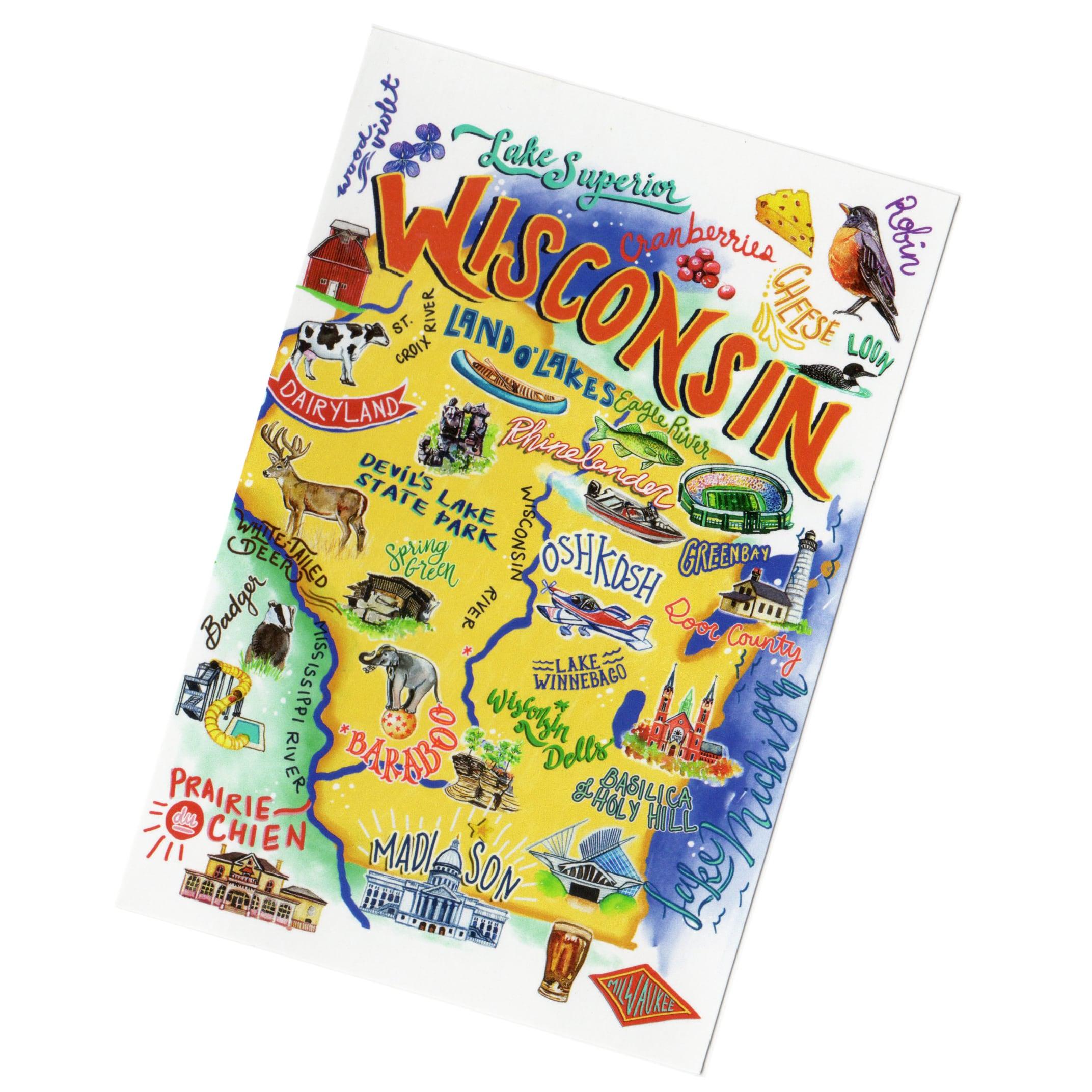ウィスコンシン州 ポストカード