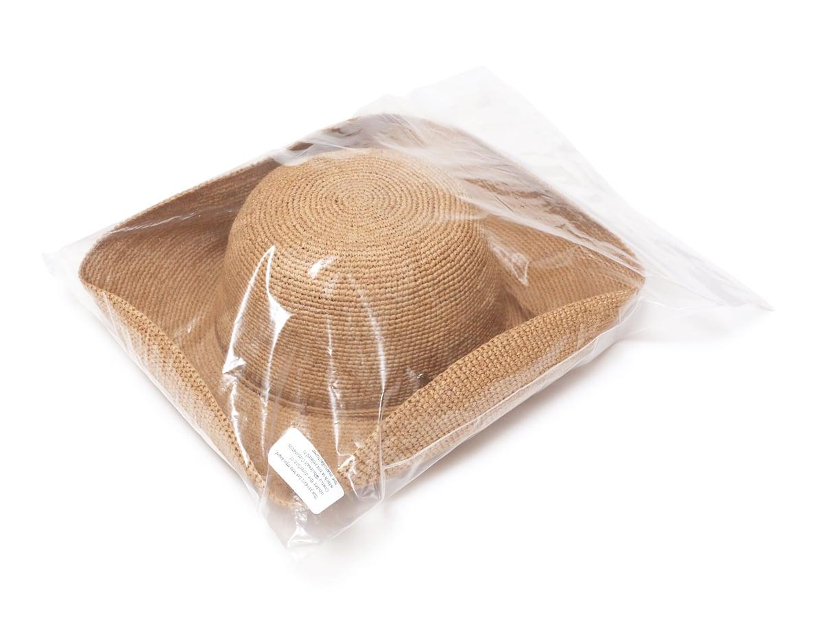 ヘレンカミンスキー プロヴァンス10 ラフィアハット 透明の袋に入った状態