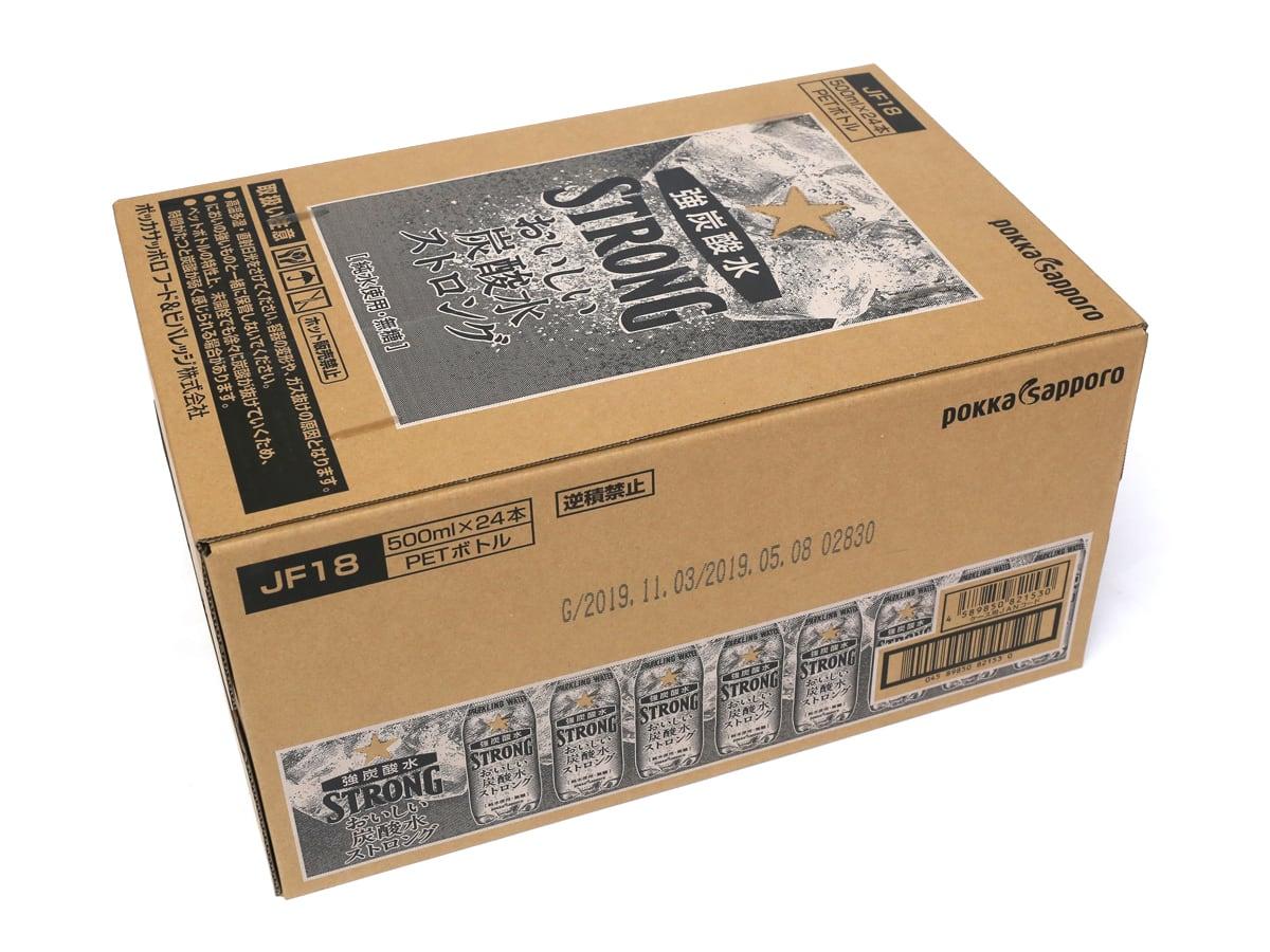 ポッカサッポロ おいしい炭酸水ストロング 500ミリリットル×24本 外箱