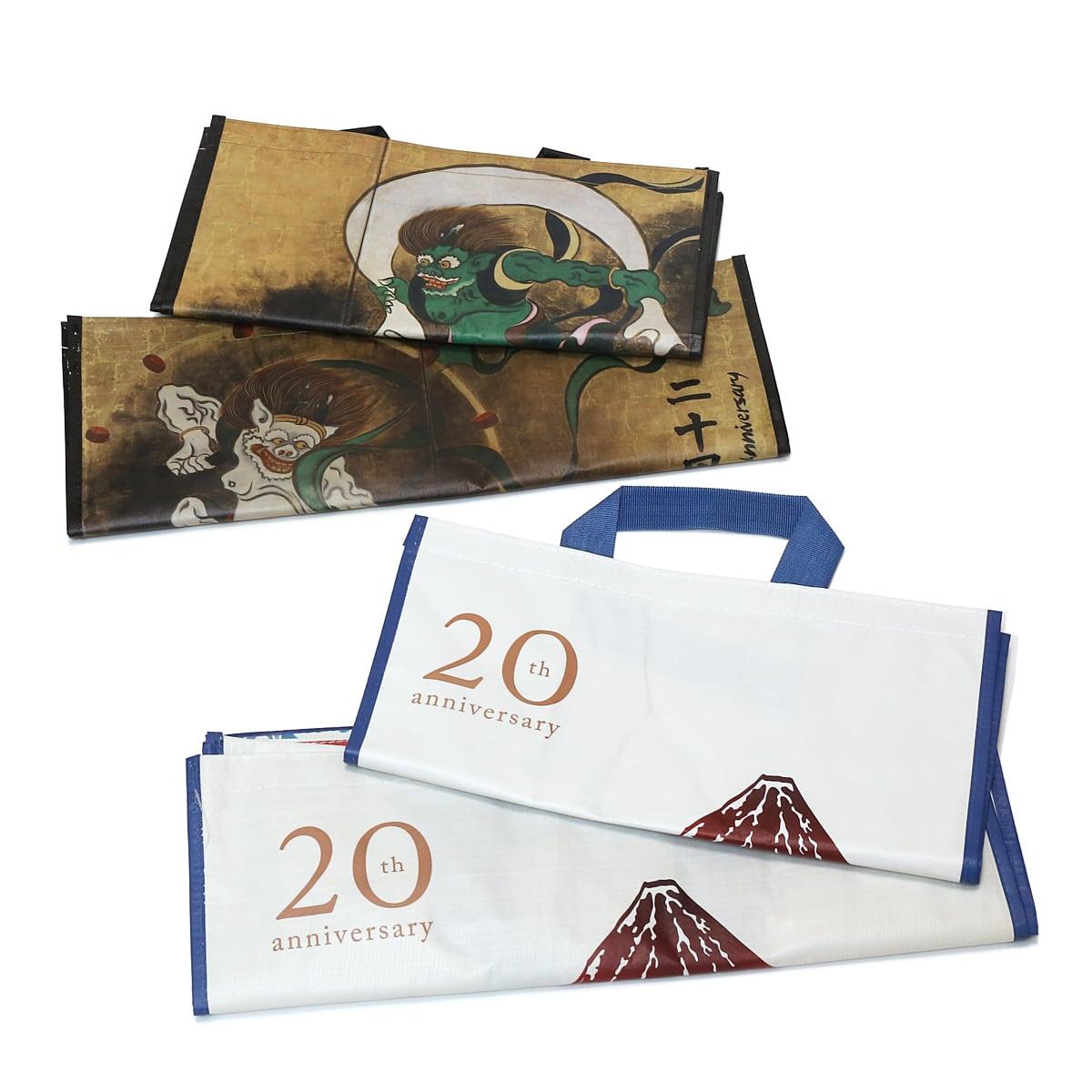 コストコ20周年記念オリジナルエコバッグ(風神雷神・富士山モデル) 4つセット