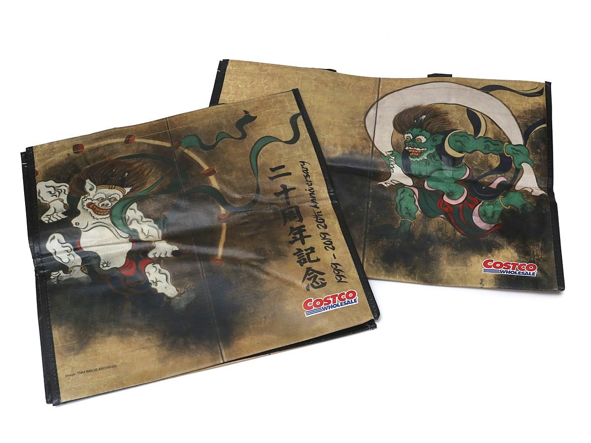 コストコ20周年記念オリジナルエコバッグ(風神雷神・富士山モデル) 風神雷神