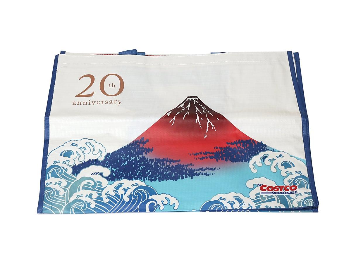 コストコ20周年記念オリジナルエコバッグ(風神雷神・富士山モデル) 赤富士