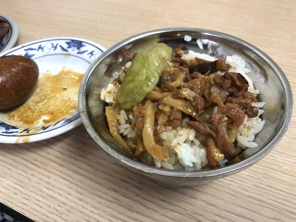 台湾で食べた魯肉飯