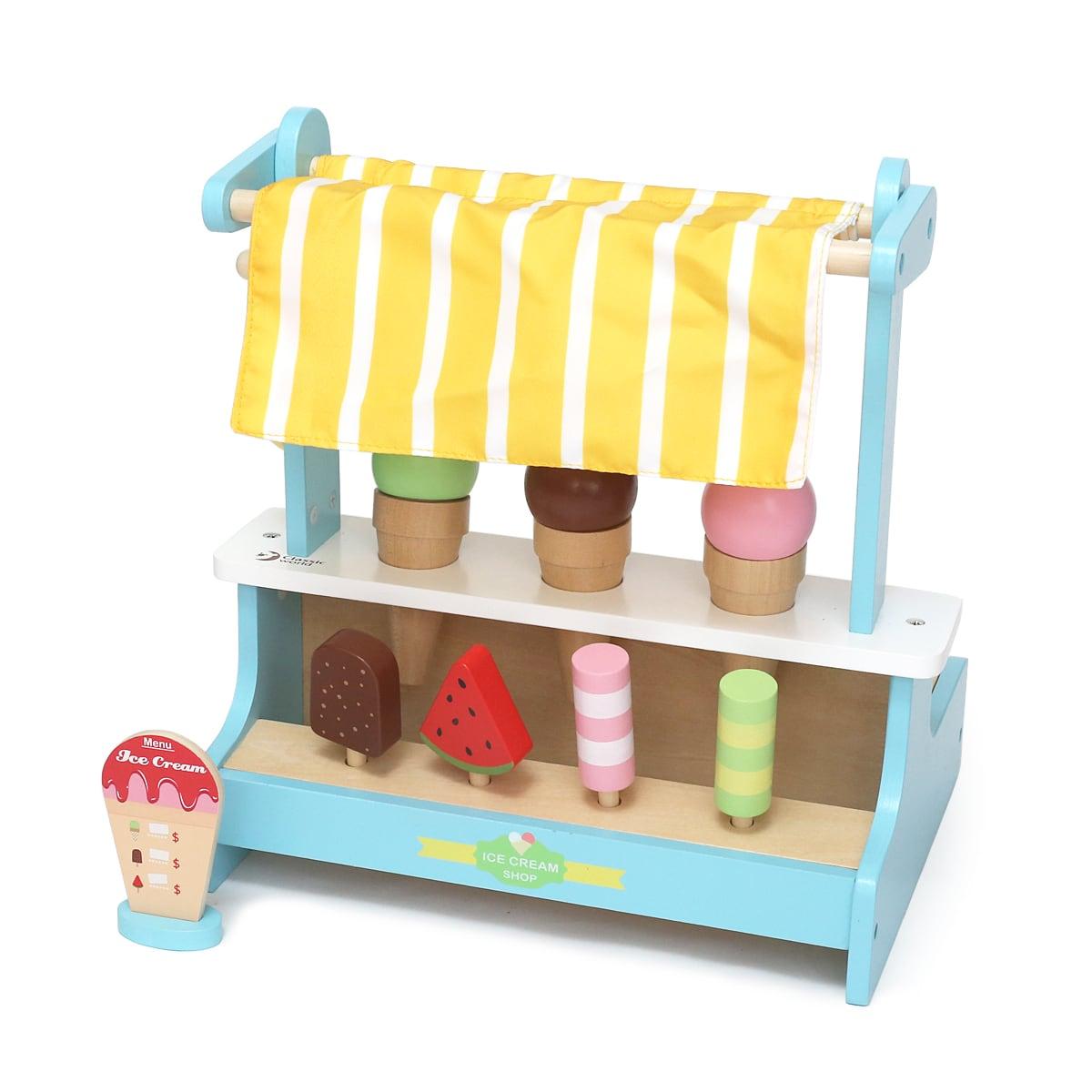 Classicworld(クラシックワールド)アイスクリームショップ 完成品(組み立てて小物を並べたところ)