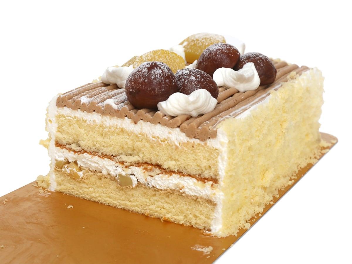 モンブランバーケーキ カット断面