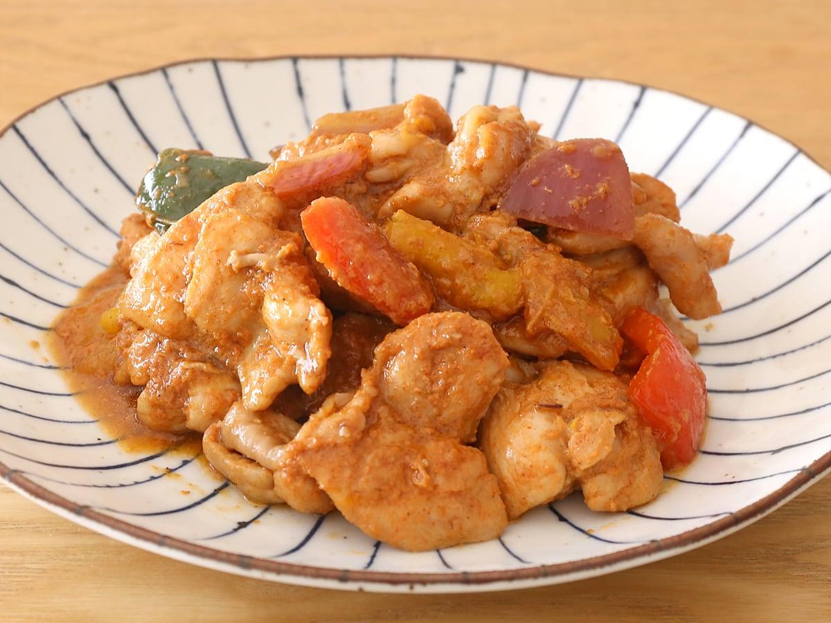 甘辛チキン 調理例(フライパンで炒めた)