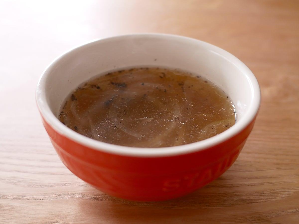 ブラックトリュフソース500g 黒トリュフ3%使用 調理例(スープ)