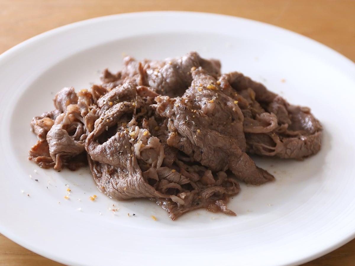 USAプライムビーフ 肩ロース すき焼き 調理例(フライパンで焼いた)