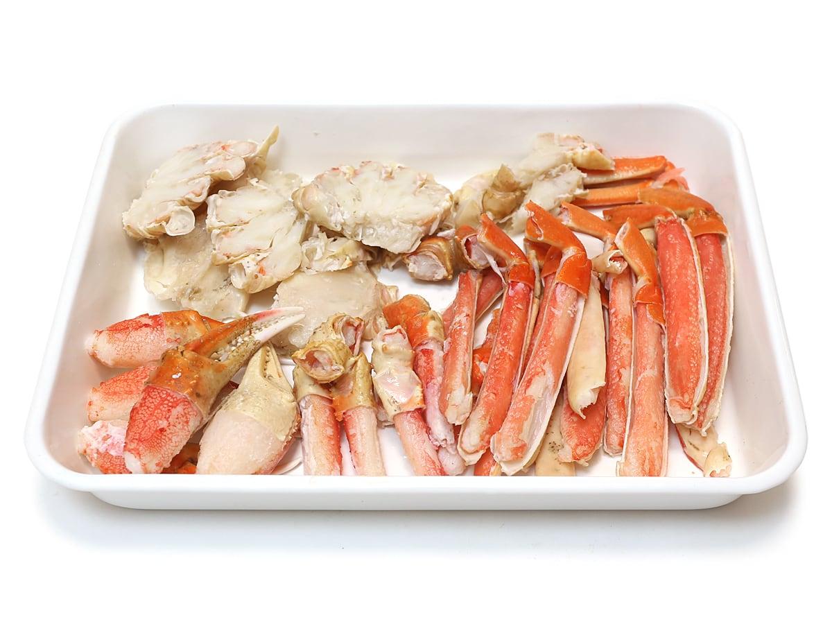 ボイルズワイガニ 冷凍 生食用1.1kg 開封中身