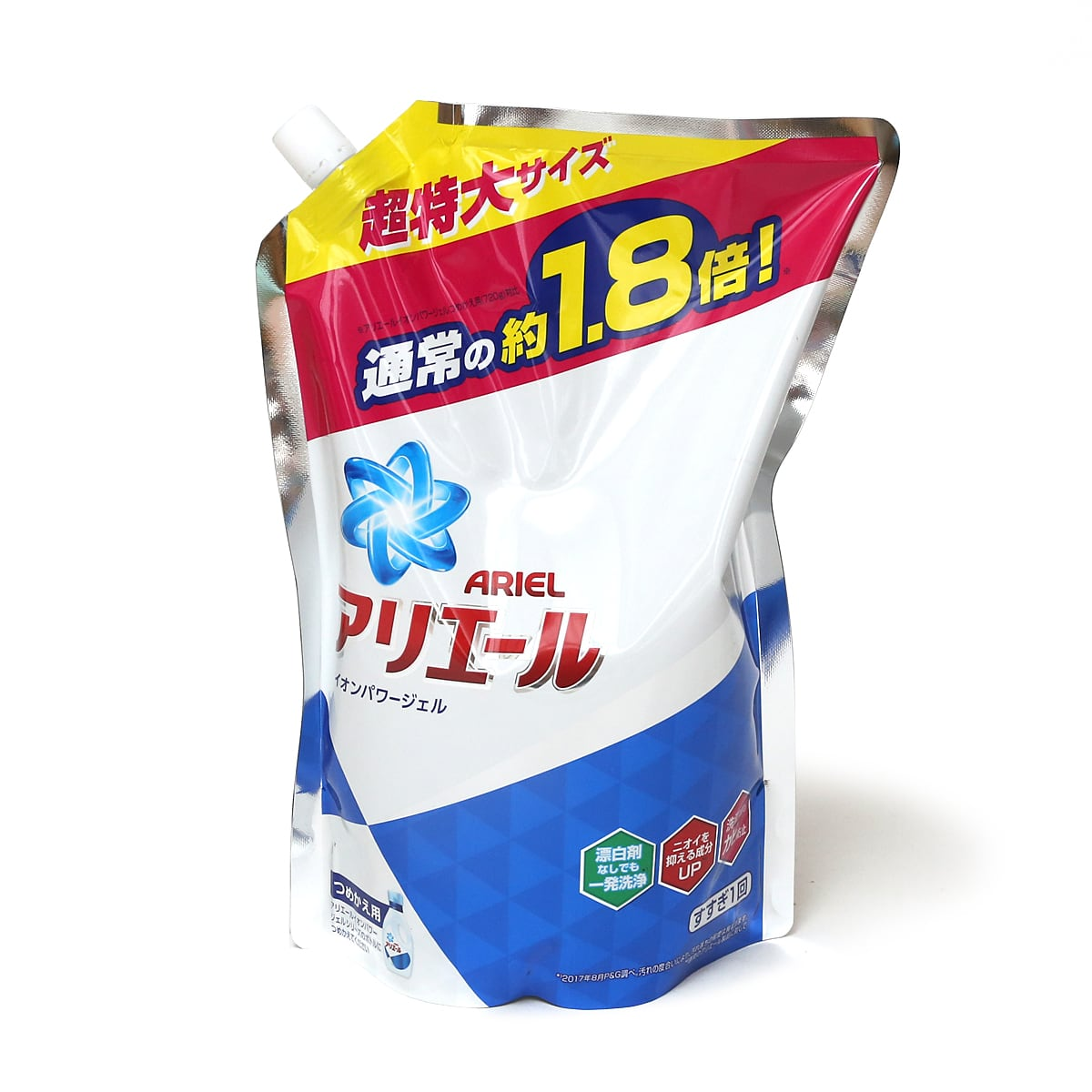 P&G コストコ限定アリエールイオンパワージェル消臭成分UP詰替え用 1.26kg×6個 1個