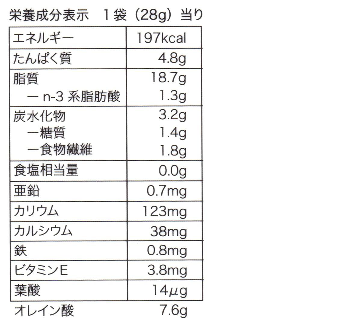 低糖質二週間分のロカボナッツ 28g×14 カロリー