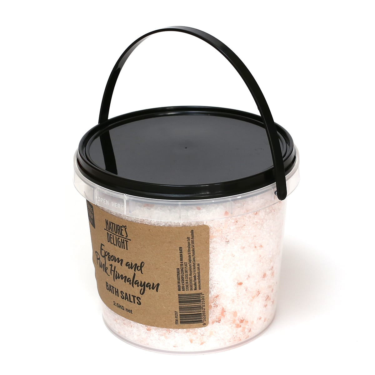 エプソム&ピンクヒマラヤンソルト バスソルト 2.5kg バケツ型の容器