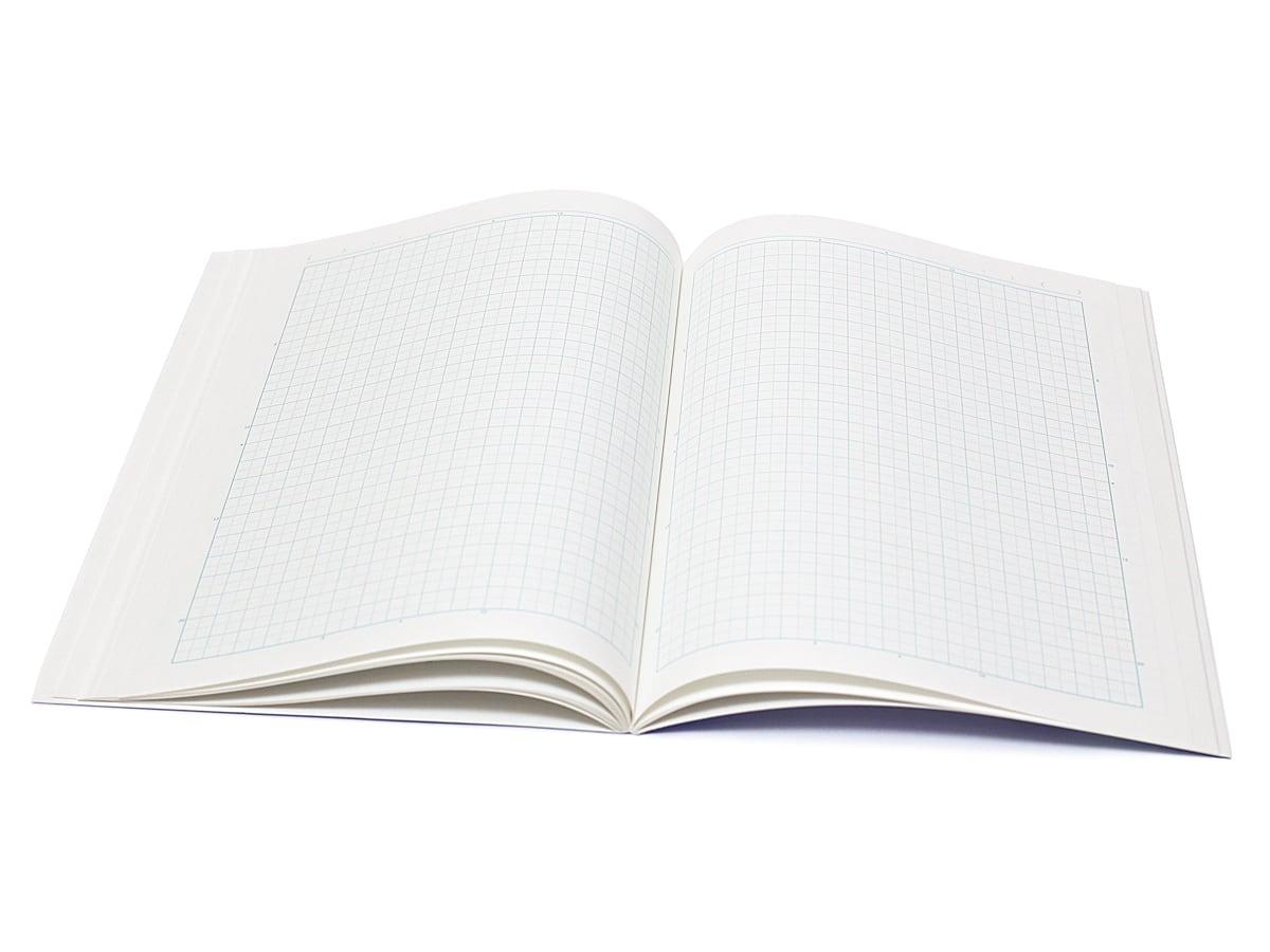 コクヨ キャンパス 5mm方眼ノート ノートを開いたところ
