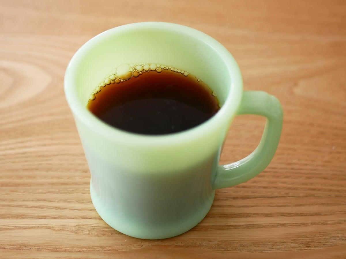 カークランドシグネチャー オーガニックホールビーンブレンド この豆でいれたコーヒー
