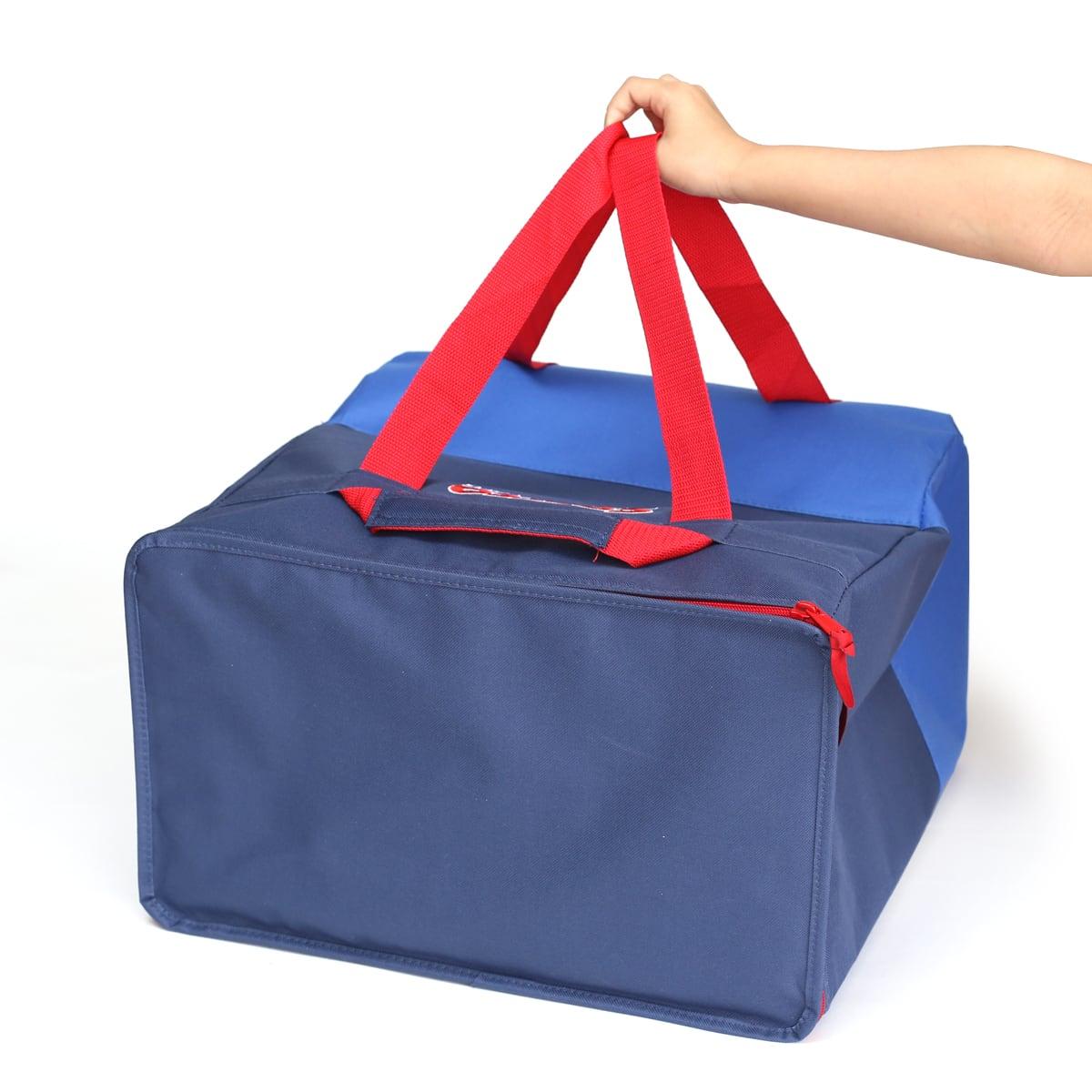 コストコオリジナルクーラーバッグ(BLUE)2パック Sサイズ(横に持った様子)