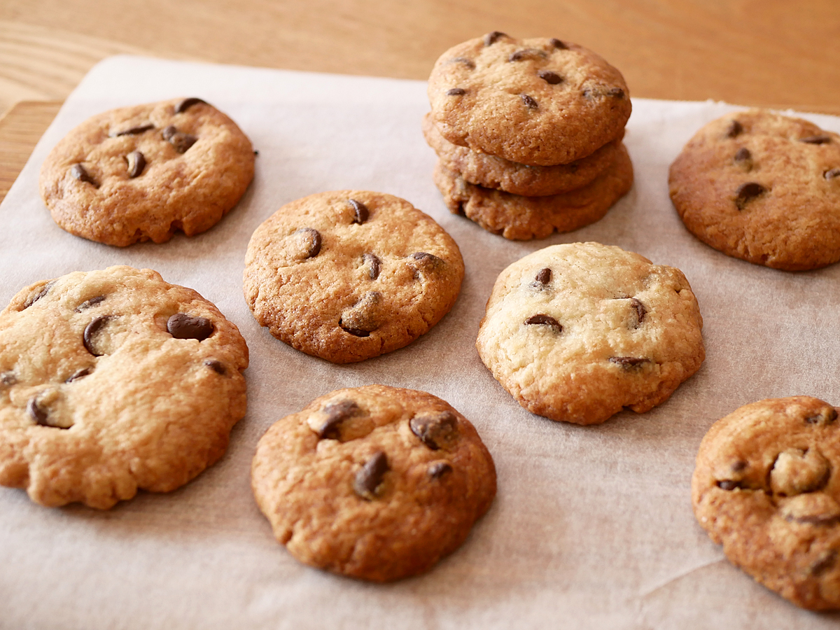 カークランドシグネチャー チョコレートチップス 2.04kg 使用例:チョコチップクッキー