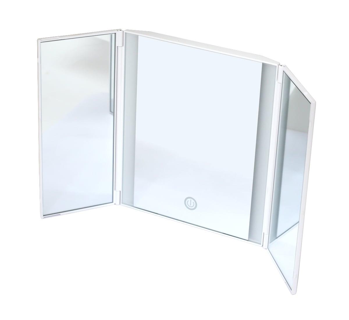 CONAIR(コンエアー)イルミネーションズ LEDイルミネーションミラー 鏡を開いた様子