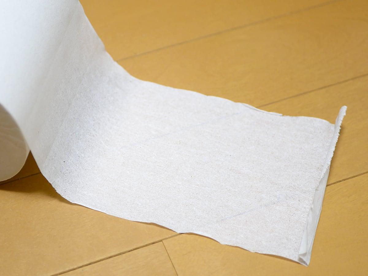 コアユース トイレットペーパー シングル 紙の薄さ