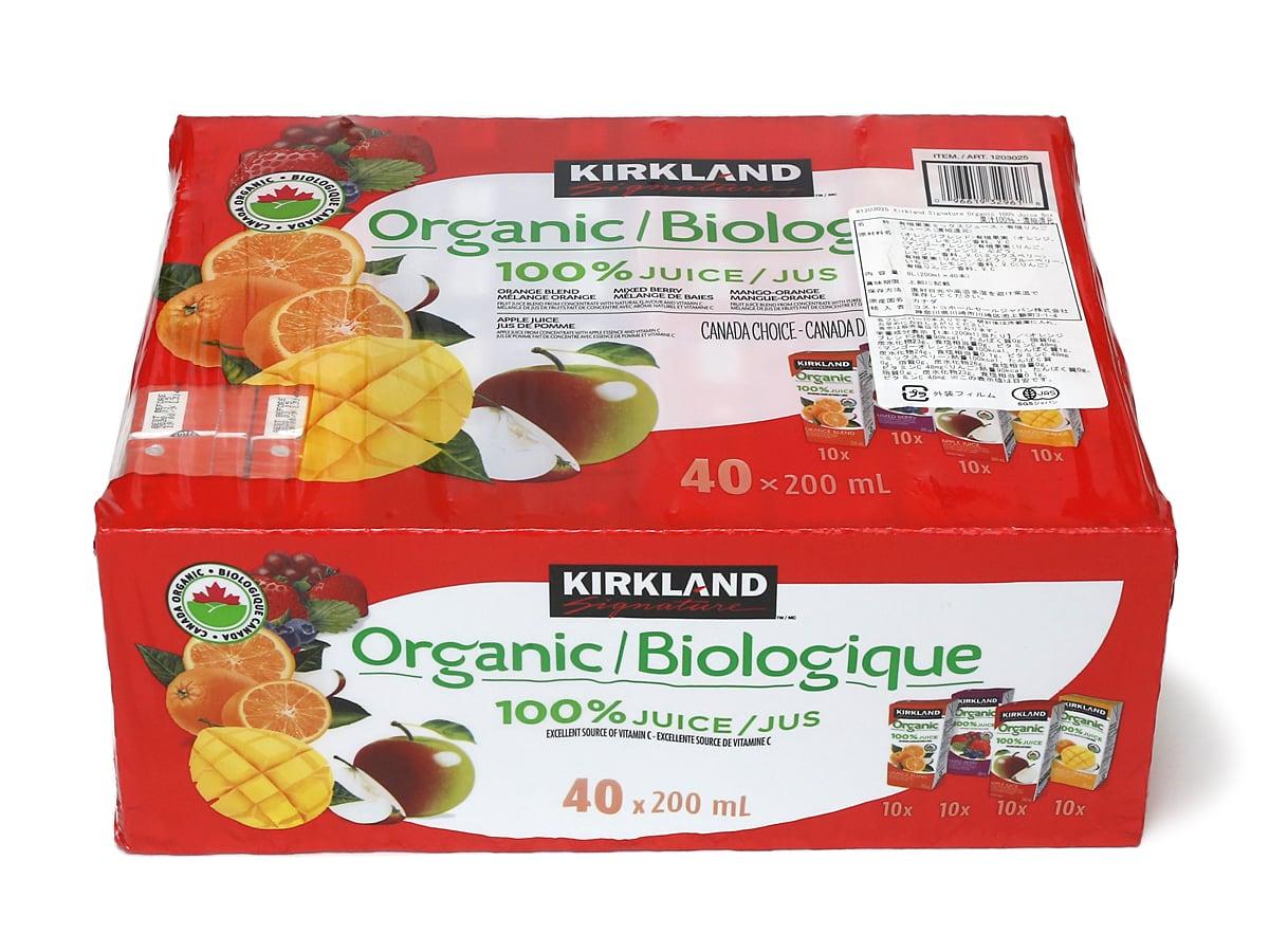 カークランドシグネチャー オーガニック100%ジュース 200ml × 40本