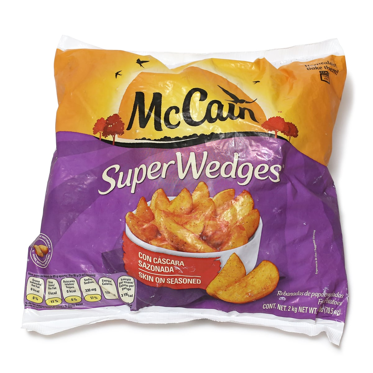 マッケイン 冷凍フライドポテト スーパーウェッジ 2kg