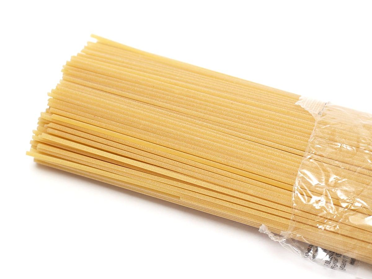 ガロファロ オーガニックスパゲティー 500g 開封中身(麺のザラつき)