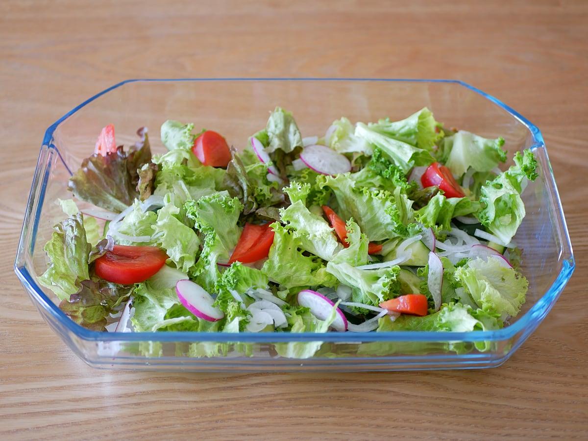 パイレックス ロースターズセット オーブンウェア 使用例:サラダ