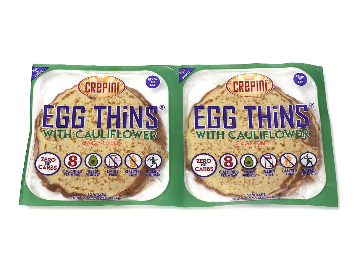 平飼い卵とカリフラワーパウダーのクレープ(小麦粉不使用)