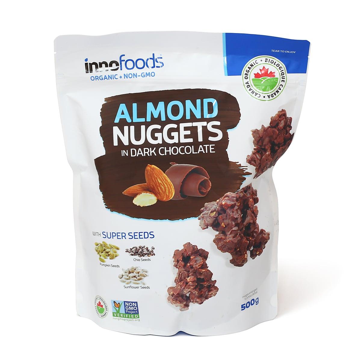 innofoods オーガニックアーモンドナゲッツ IN ダークチョコレート