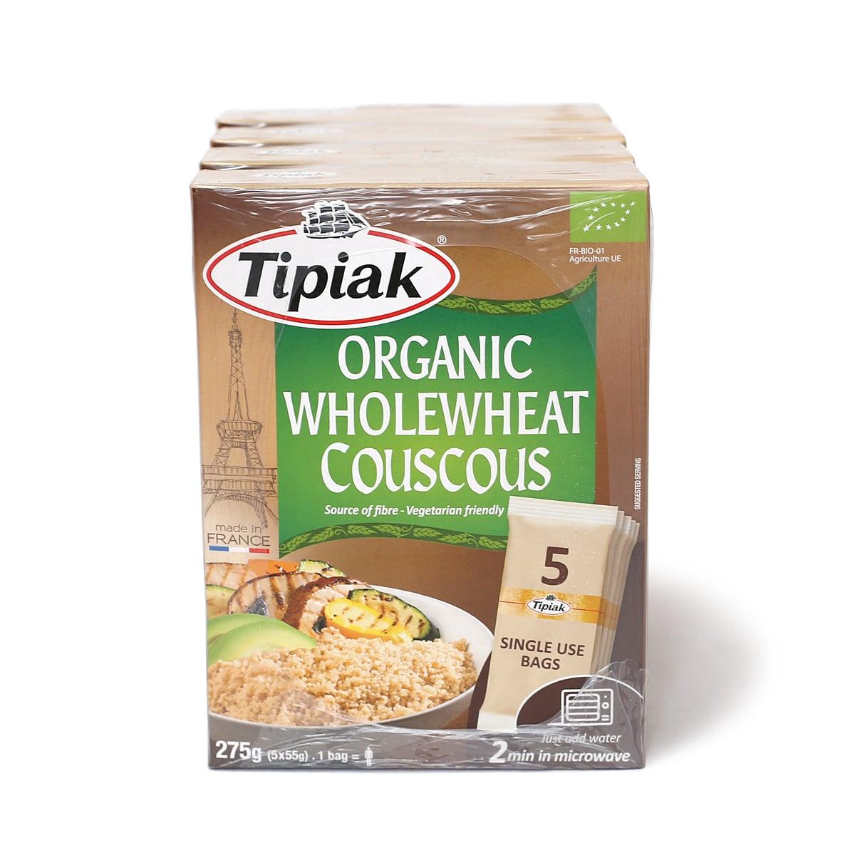 Tipiak オーガニックホールウィートクスクス 275g×4箱