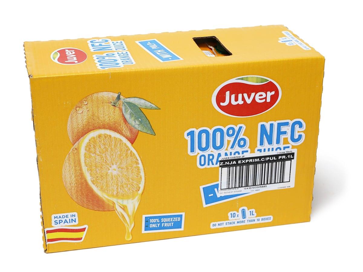 フベル 100%ストレートオレンジジュース 1L×10本