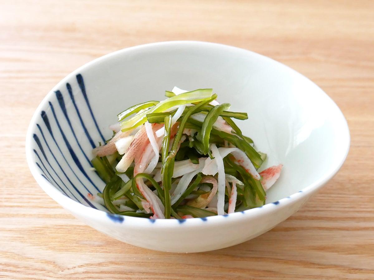 マルニシ 三陸産くきわかめ 100g 調理例:酢の物
