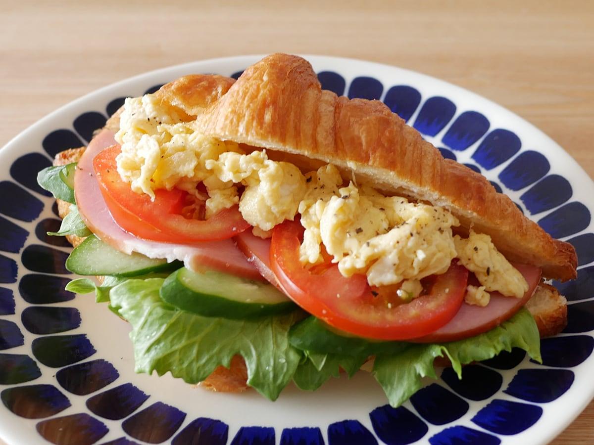クロワッサン 12個入り 使用例:サンドイッチ