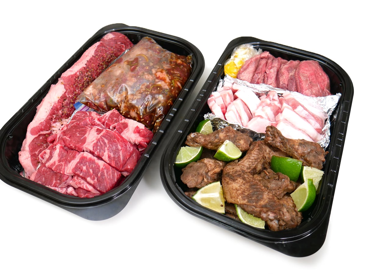 BBQ用に準備したお肉セット