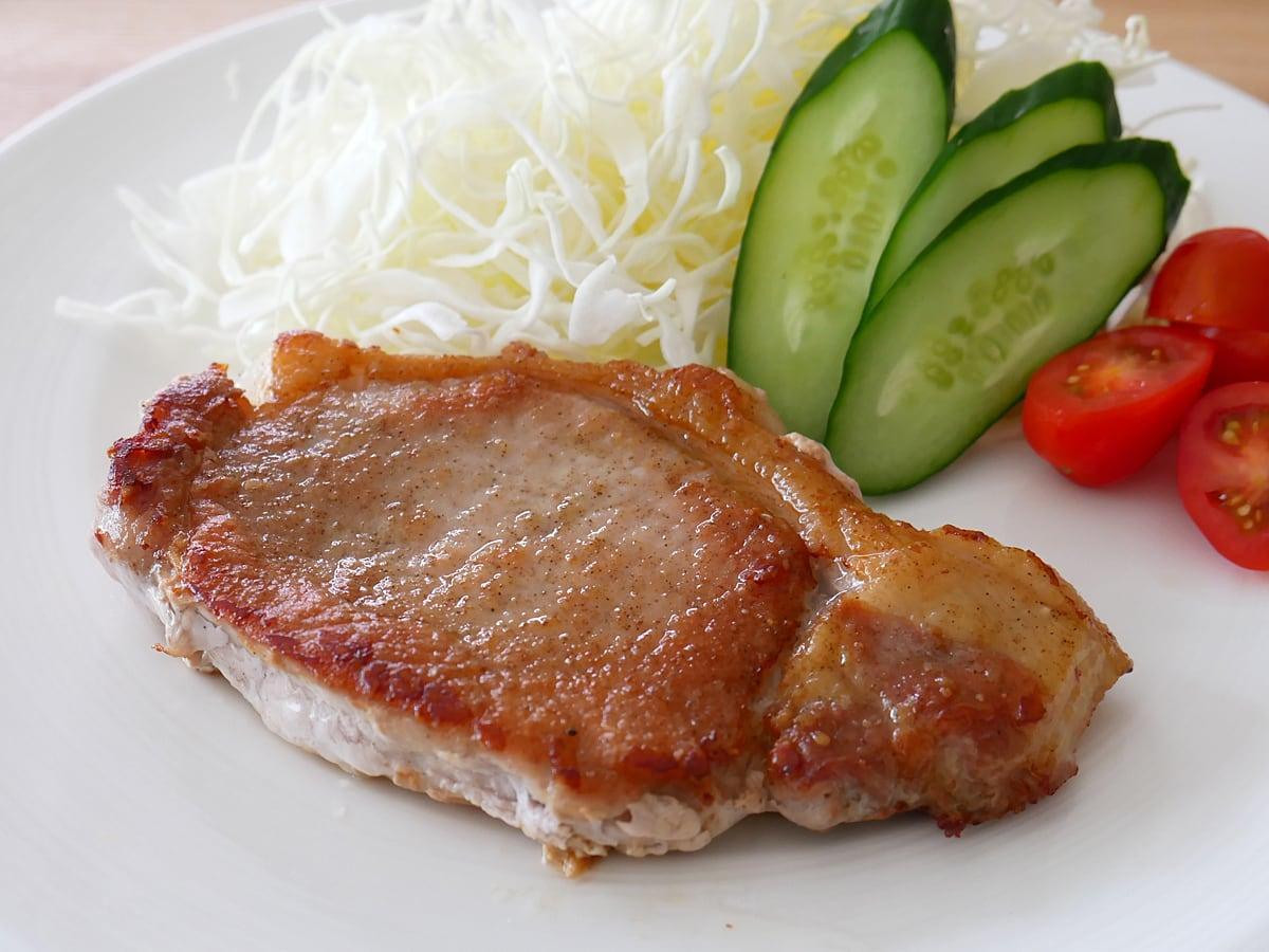 カナダ産三元豚 ボンレスロインパック 使用例:ポークソテー