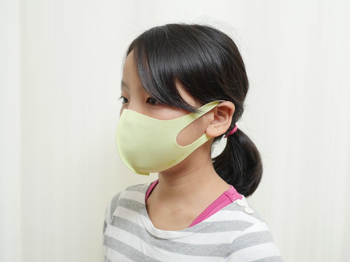 32DEGREES キッズ用マスク(キッズフェイスカバー)使用例:小学4年生が着けてみたところ