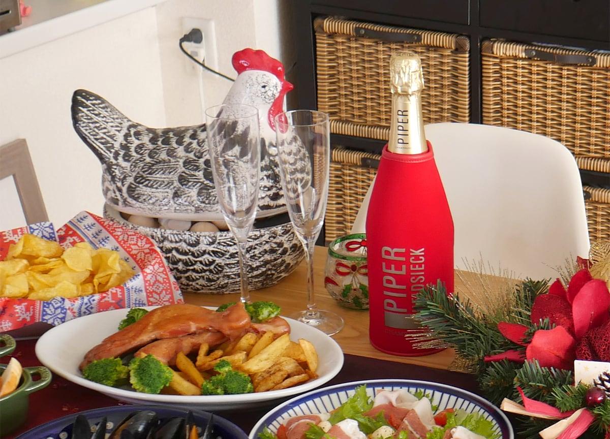 コストコ商品でクリスマスパーティー2020 シャンパン(パイパーエドシックブリュット)