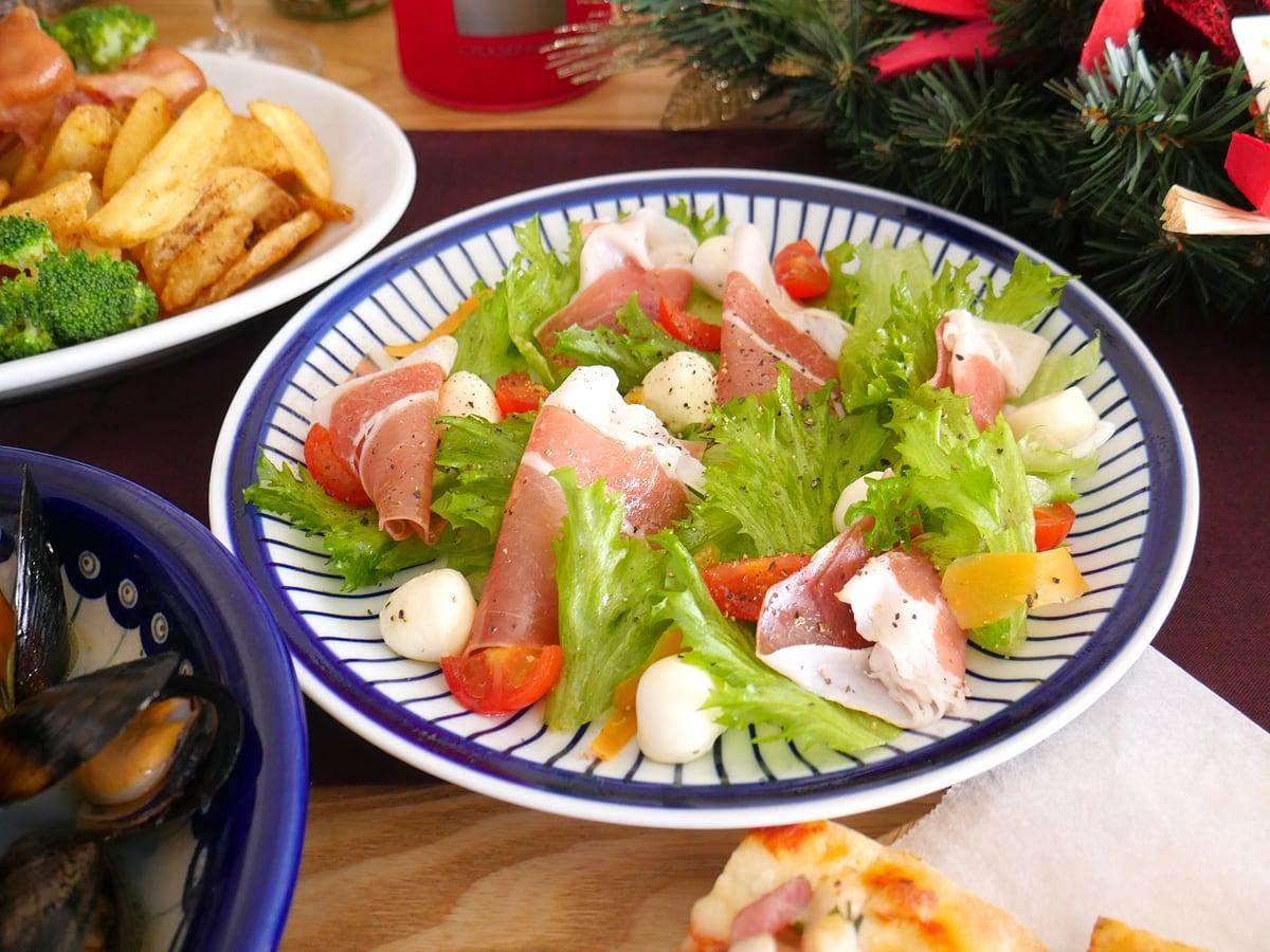 コストコ商品でクリスマスパーティー2020 生ハムのサラダ