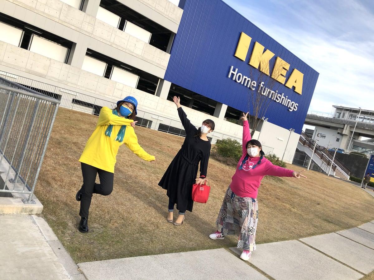 IKEAにて 森井ユカさん、やしろ優さん、コス子