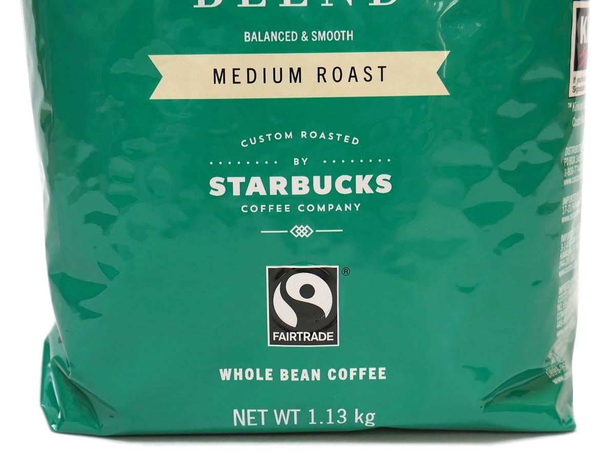 カークランドシグネチャー スターバックス ハウスブレンドコーヒー(豆)1.13kg スターバックスの文字
