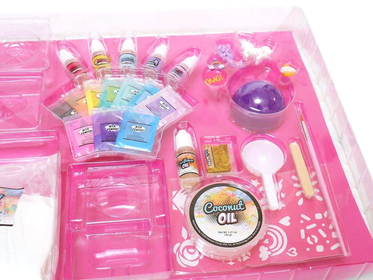 POPFIZZ マジックバスボムキット サプライズのおもちゃ、筆や計量スプーン