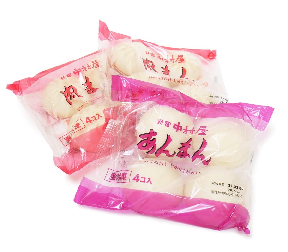 新宿中村屋 肉まん・あんまん 12個入 開封中身(4個×3袋)