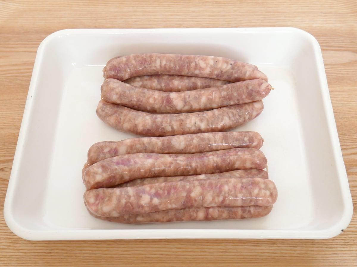 腸詰めポーク(生ソーセージ)国産豚肉使用 1.5kg 開封中身