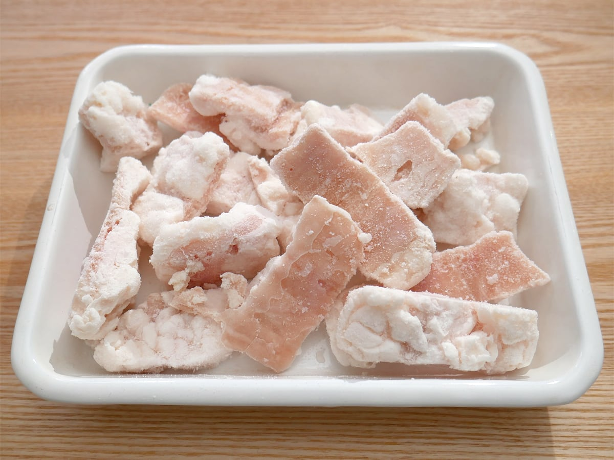 USビーフ 冷凍シマチョウカット 1.5kg 開封中身