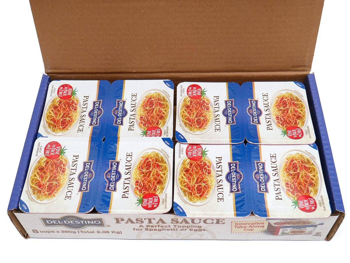 デルディスティーノ トマトパスタソース(小分けタイプ)260g×8 箱開封