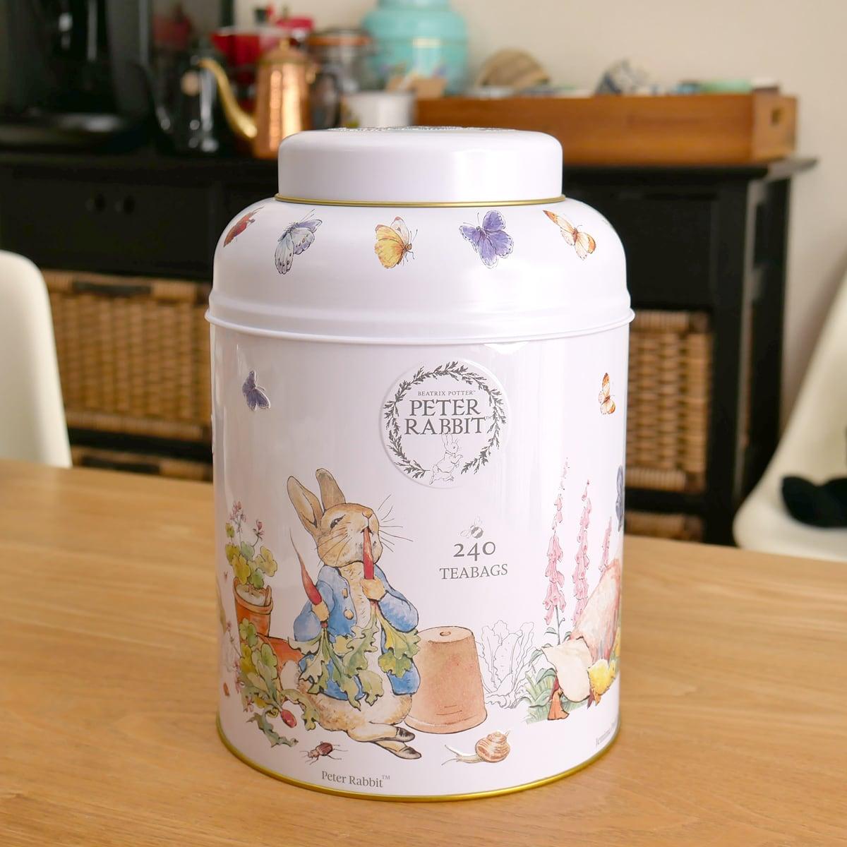 コストコ ピーターラビットの紅茶缶