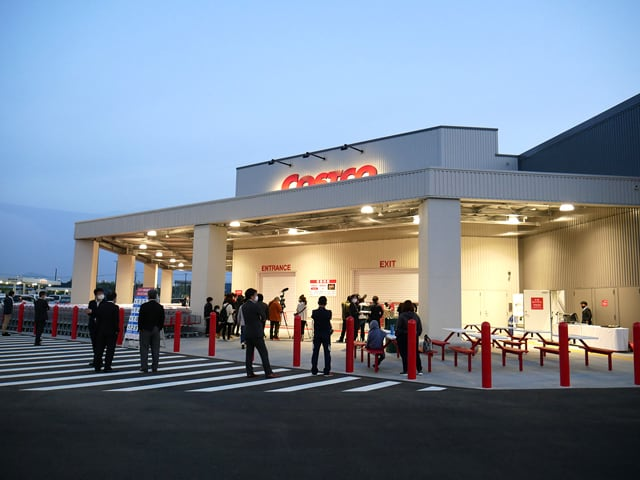 コストコ熊本御船倉庫店 オープン前の様子