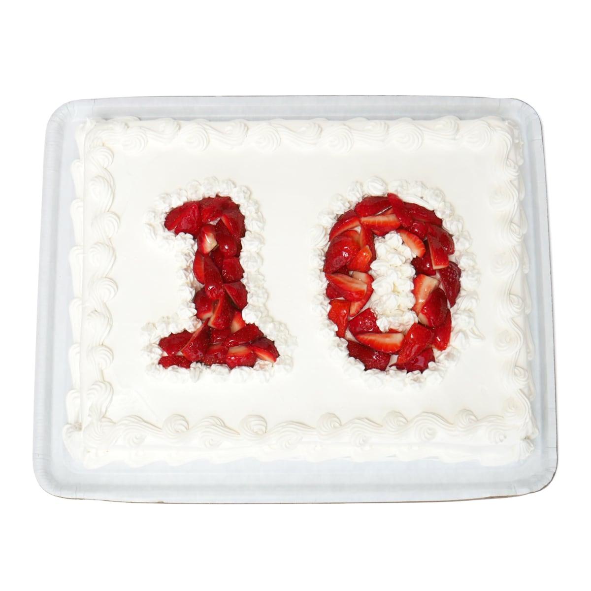 コストコ通ブログ10周年のケーキ