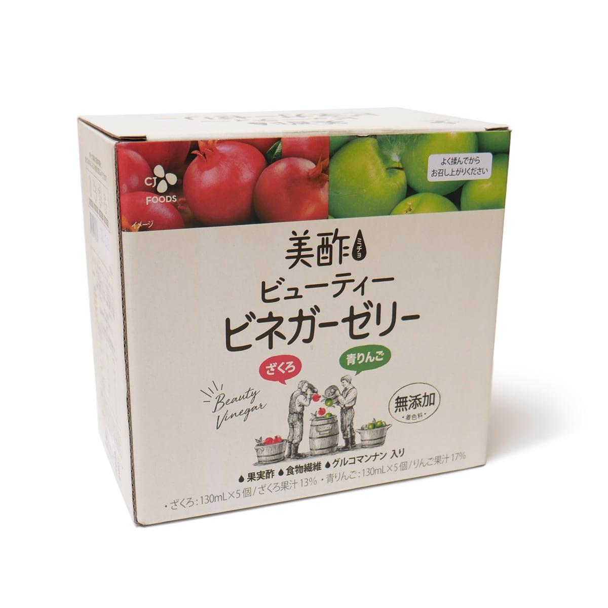 美酢(ミチョ)ビューティービネガーゼリー 10パック入 外箱