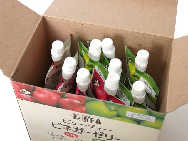 美酢(ミチョ)ビューティービネガーゼリー 10パック入 箱開封