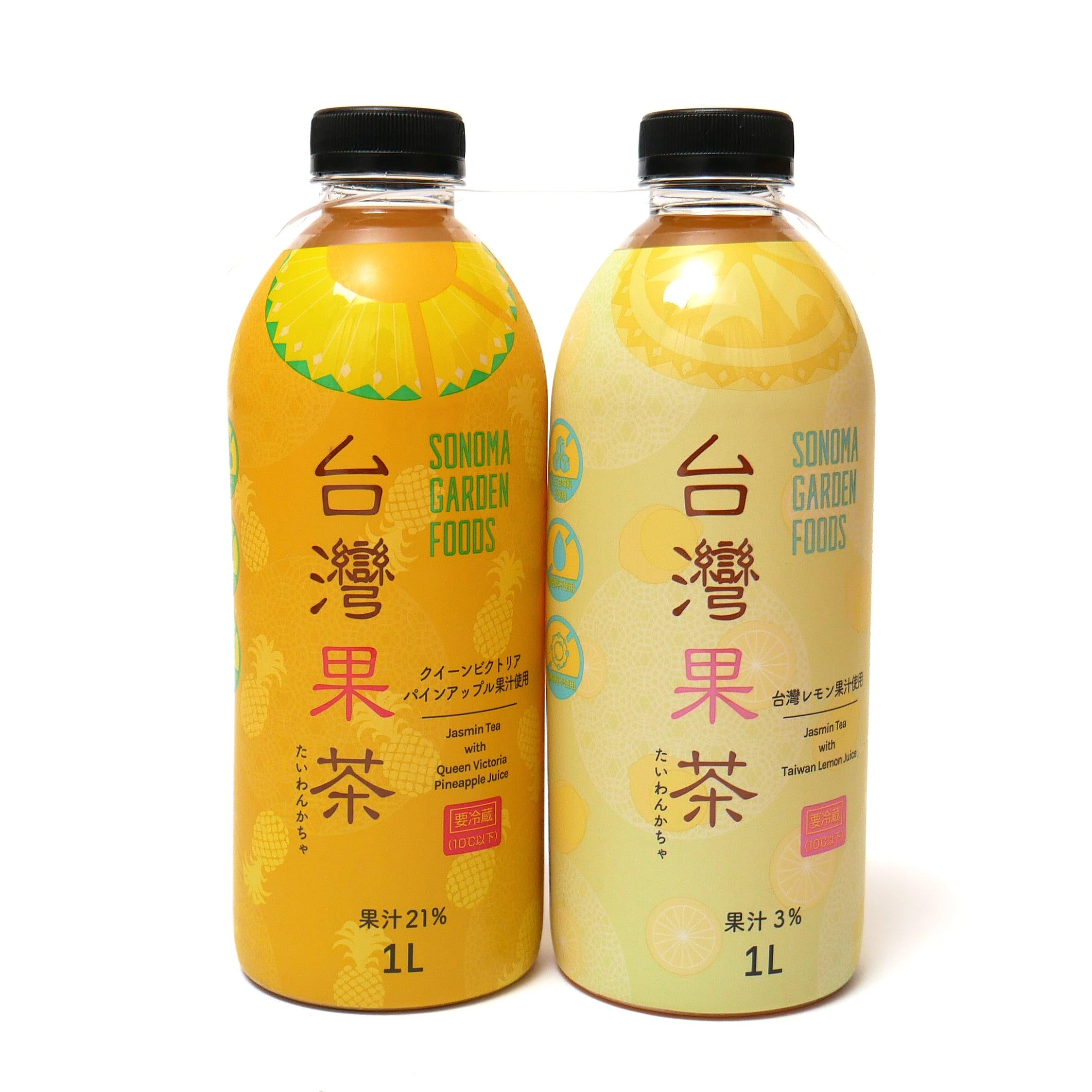 台湾果茶 レモン&パイン 1L×2本セット